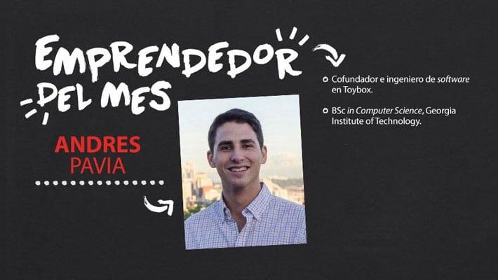 Emprendedor del mes: Andres Pavia, cofundador de Motojombo y Toybox